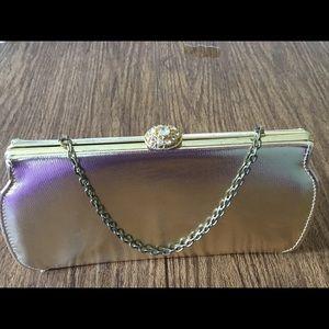 Handbags - Vintage metallic gold clutch